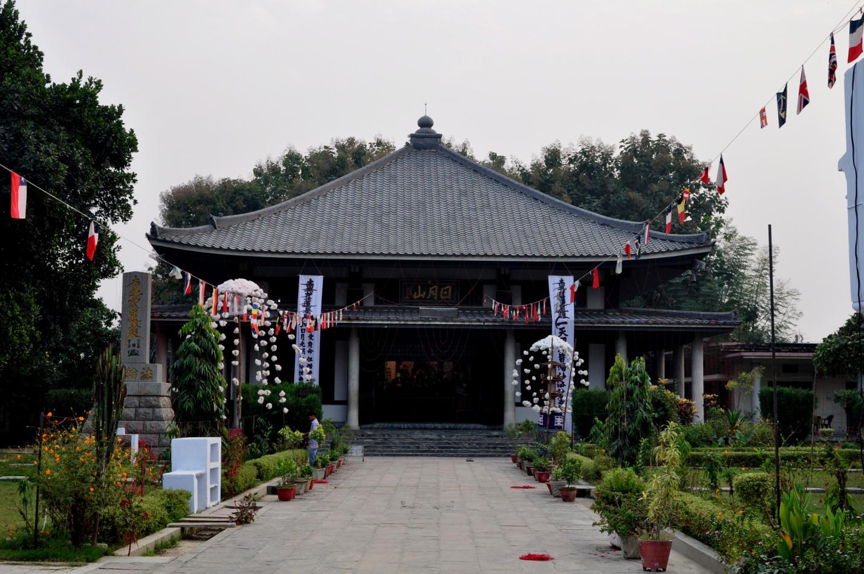Японский храм в Сарнатхе, Индия