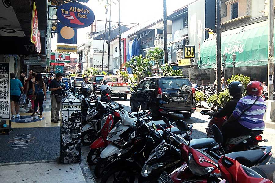 В городе. Бали