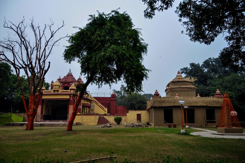 Сад в храме Лакшми-Нараян. Дели, Индия