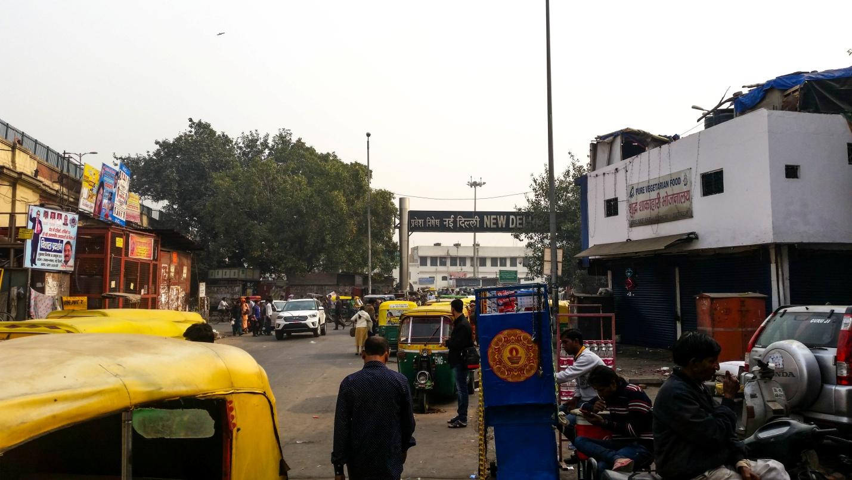 Городская суета в Дели, Индия