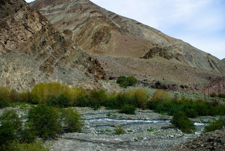 Речка меж гор в Ладакхе