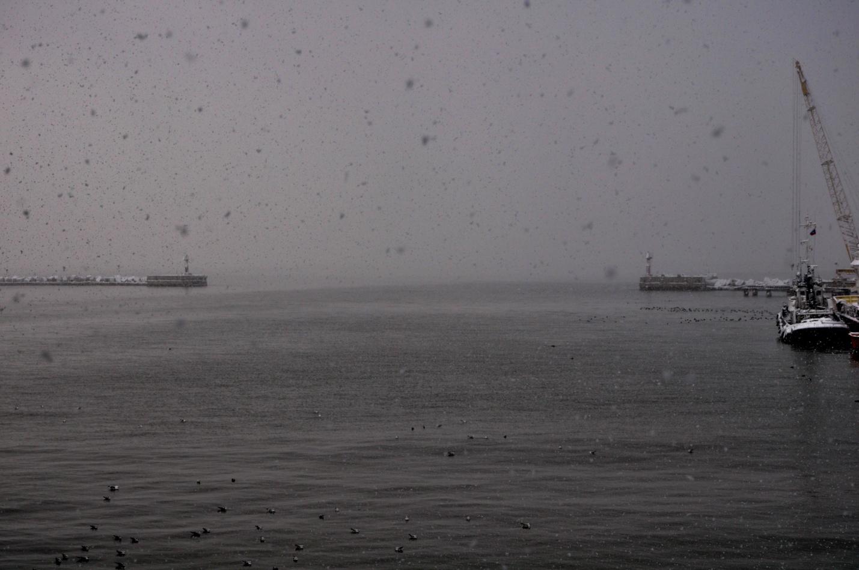 Зимнее море. Керченский пролив. Черное и Азовское моря
