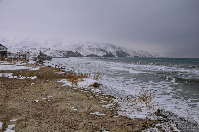 Зимнее море. Поселок Курортное, Крым