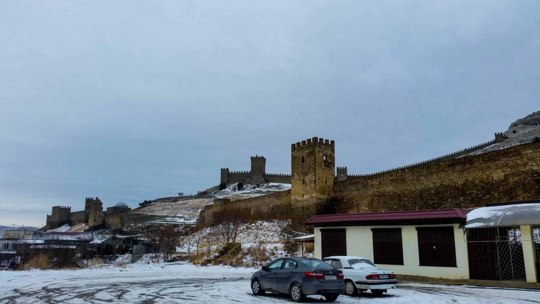 Крепость в Судаке зимой, Крым