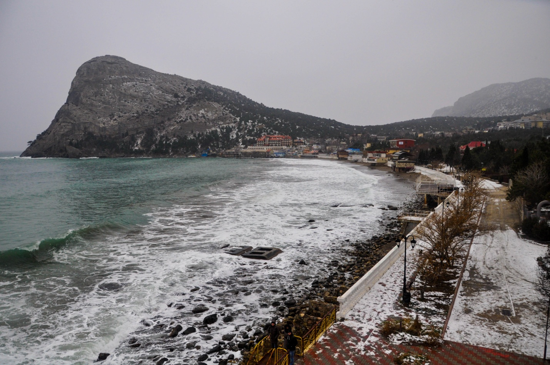 Зимняя панорама набережной. Новый Свет, Крым