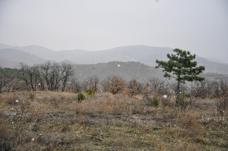 Красивые зимние пейзажи в Крыму