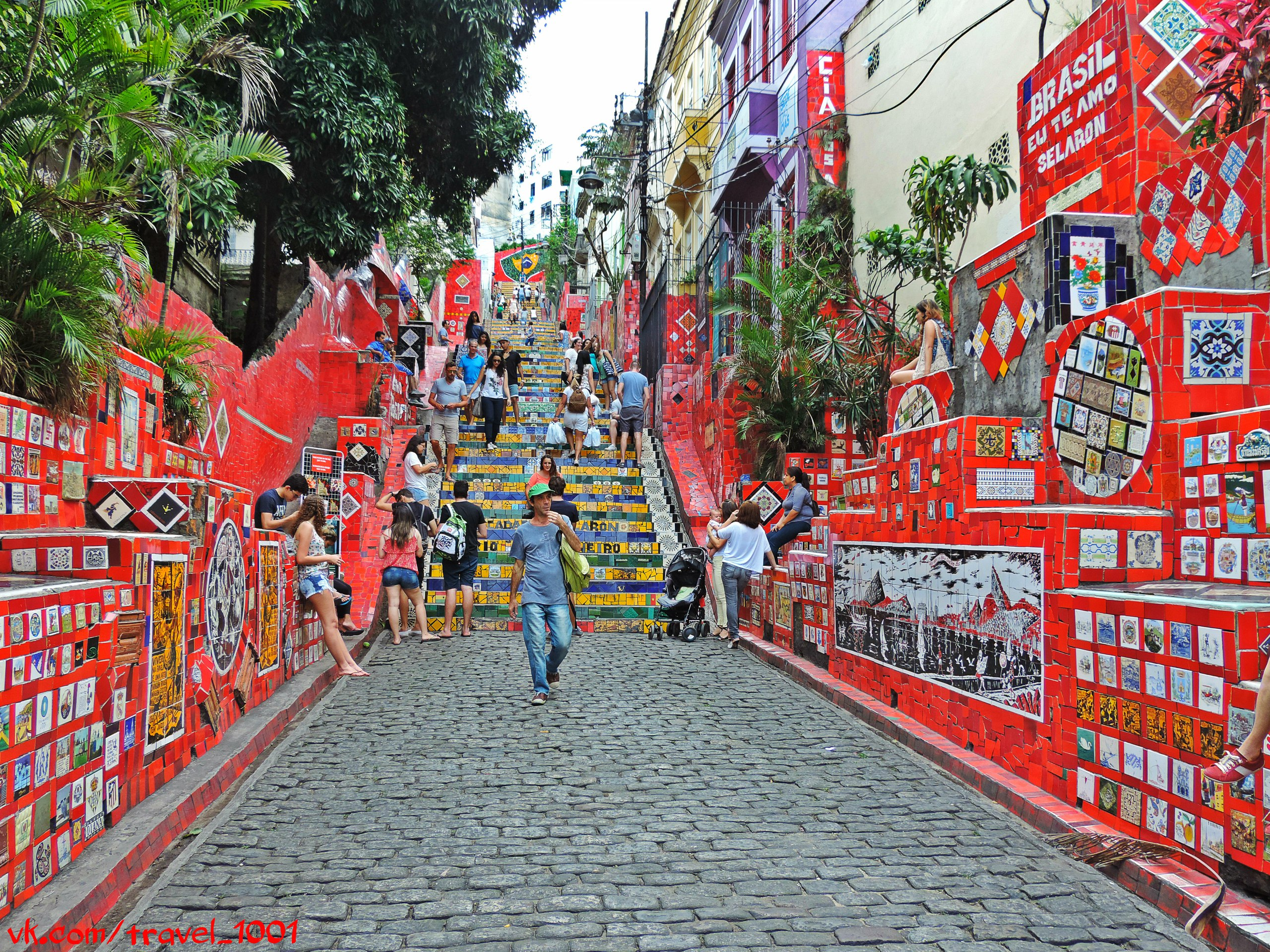 Лестница Селарона, Рио-де-Жанейро