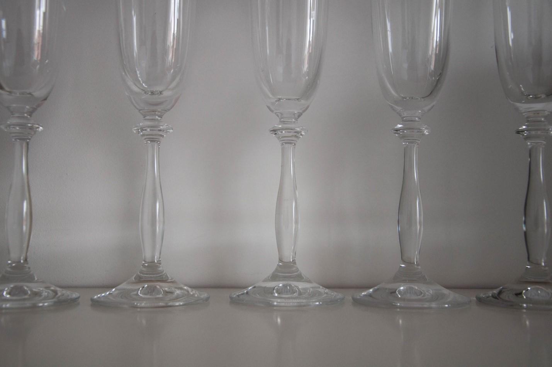 Бокалы из богемского стекла