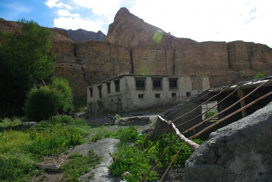 Поселение Markha в горах Индии, Гималаи