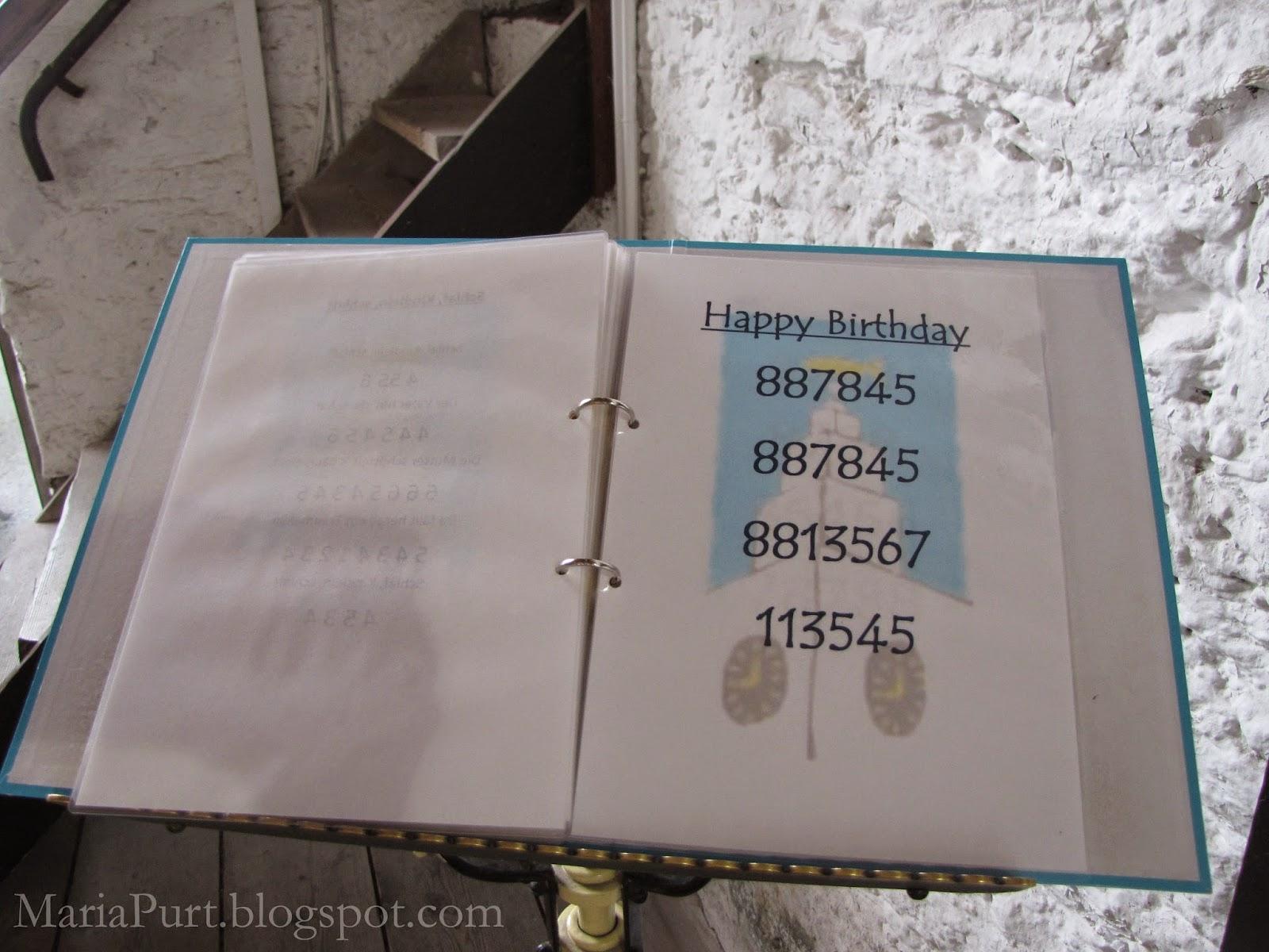 Книга мелодий с номерами колоколов в церкви, Корк, Ирландия