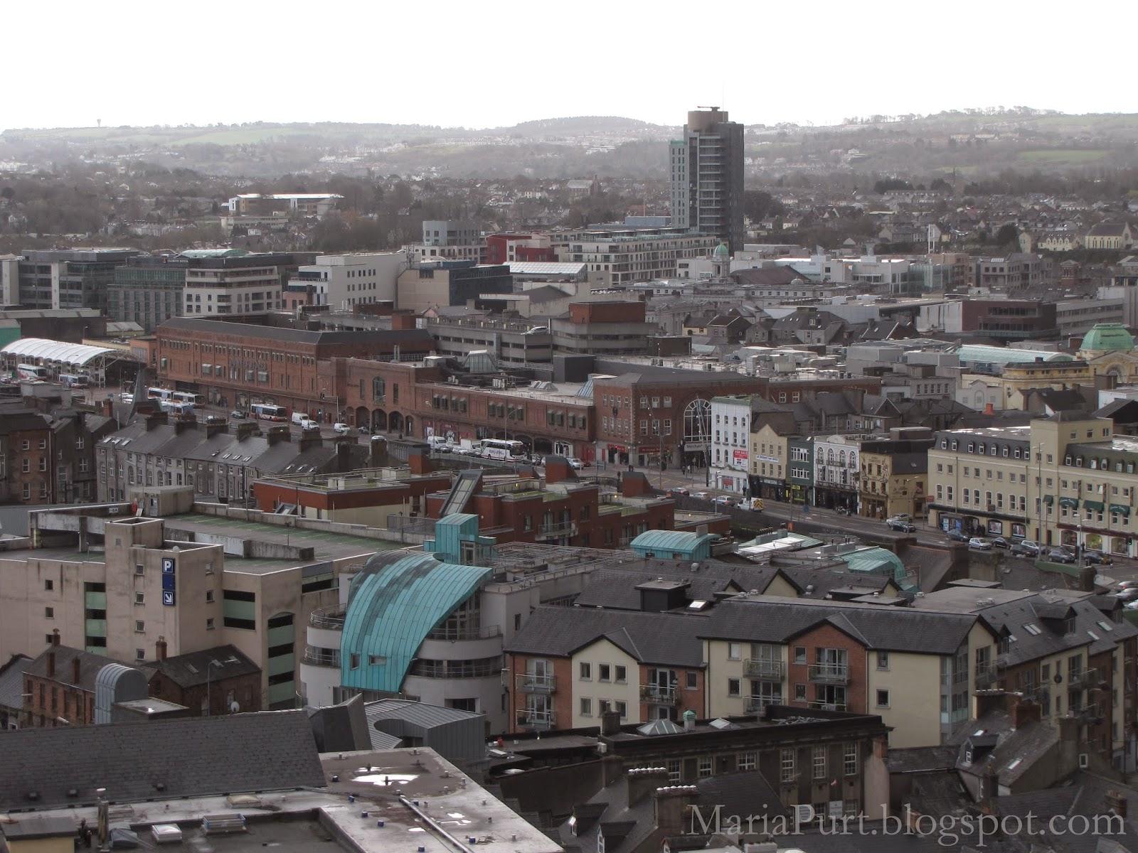 Вид на Корк с высоты, Ирландия