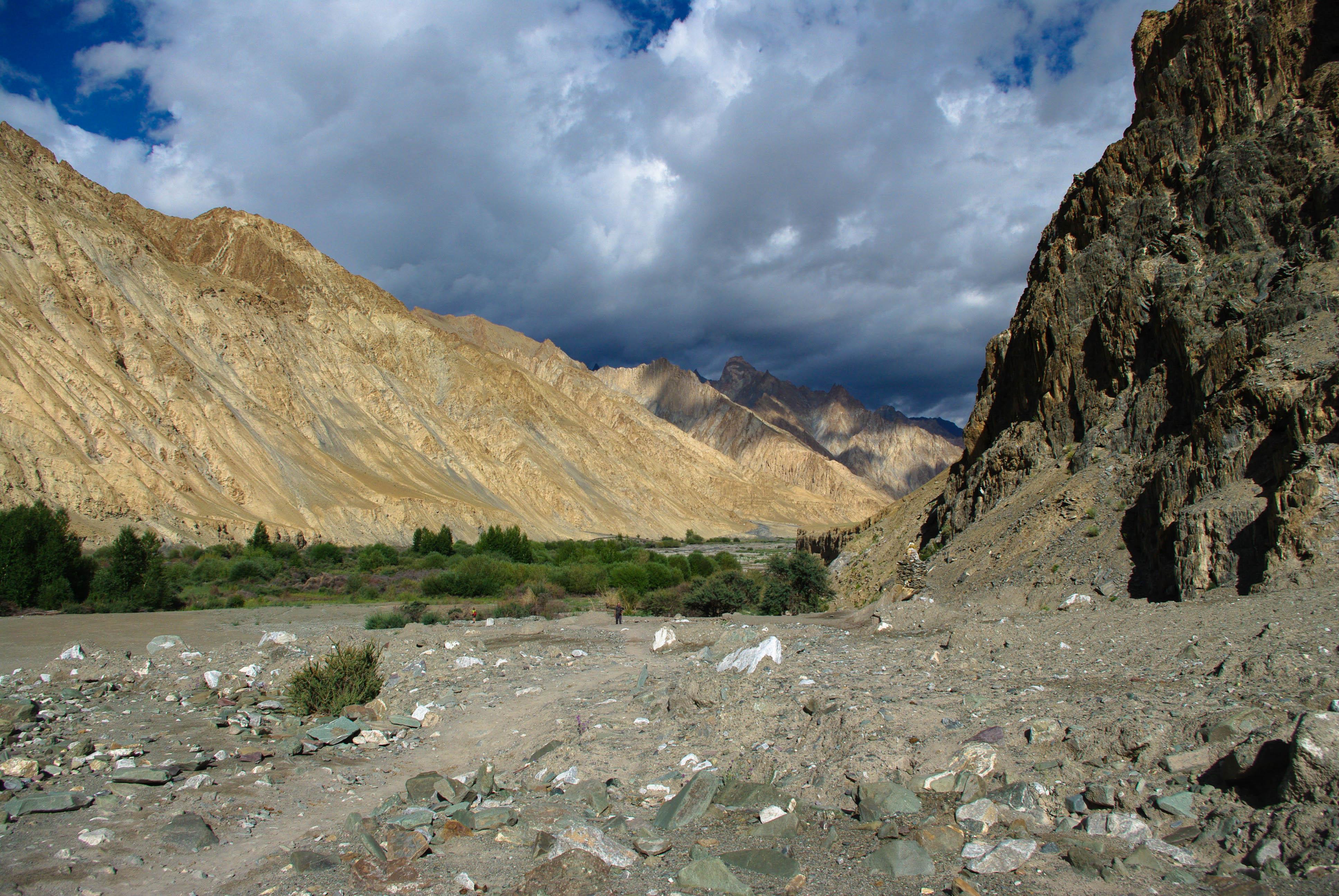 Красивый пейзаж в Гималаях