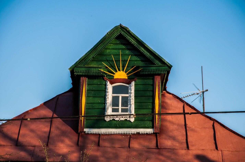 Красивая крыша дома в Волоколамске