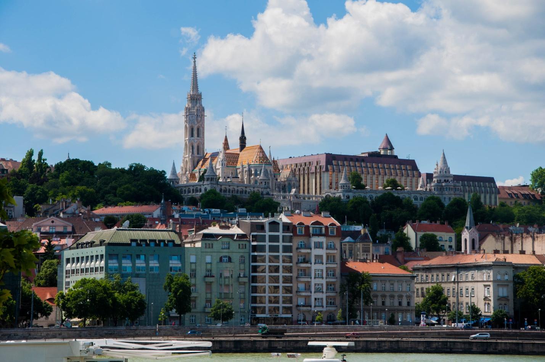 Вид с Пешта на Рыбацкий Бастион, Будапешт