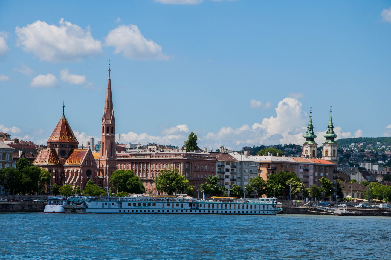 Вид на Буду с Пешта, река Дунай, Будапешт