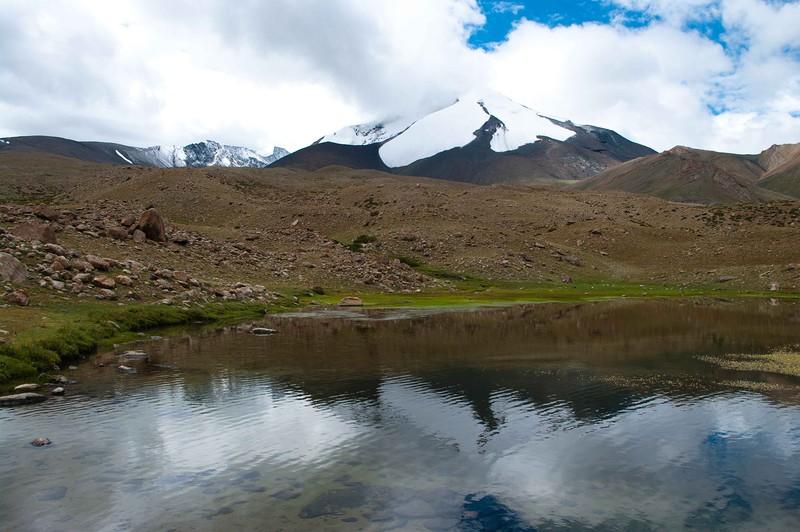 Красивое горное озеро, Гималаи