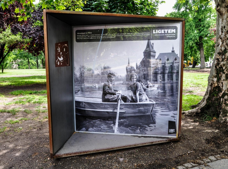 Старые фотографии достопримечательностей парка в Будапеште