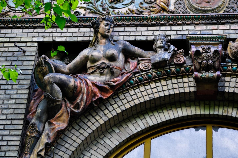 Интересное здание в Будапеште, Венгрия