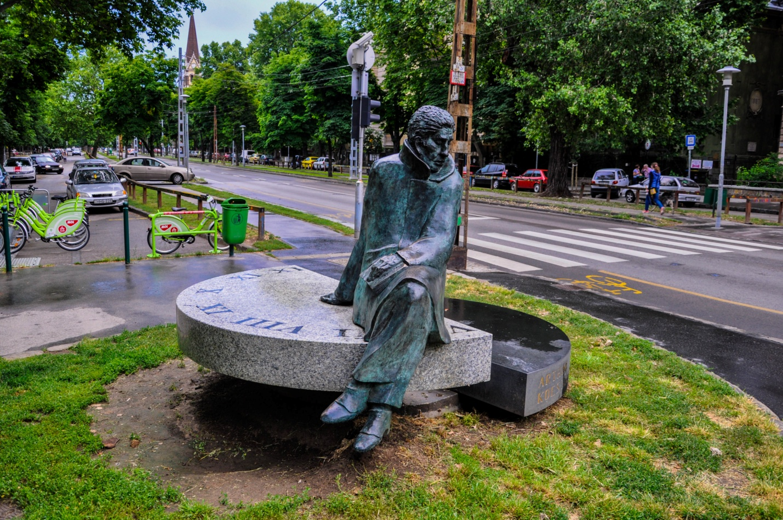 Статуя Артура Кёстлера — британского писателя и журналиста в Будапешт, Венгрия
