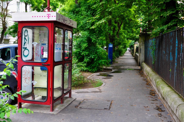 Телефонная будка в Будапеште, Венгрия