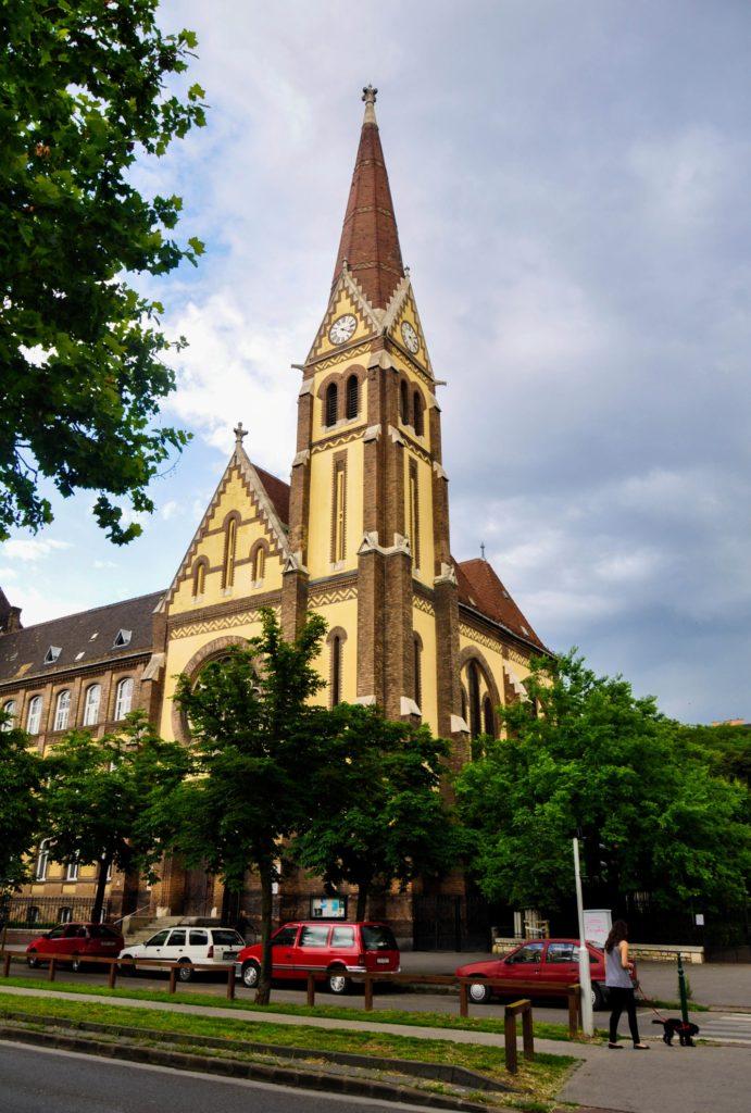 Лютеранская церковь в неоготическом стиле 1905 года постройки, Будапешт, Венгрия