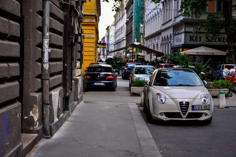 Тихая улочка в Будапеште, Венгрия