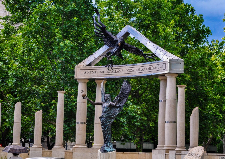 Памятник жертвам немецкой оккупации в Будапеште, Венгрия