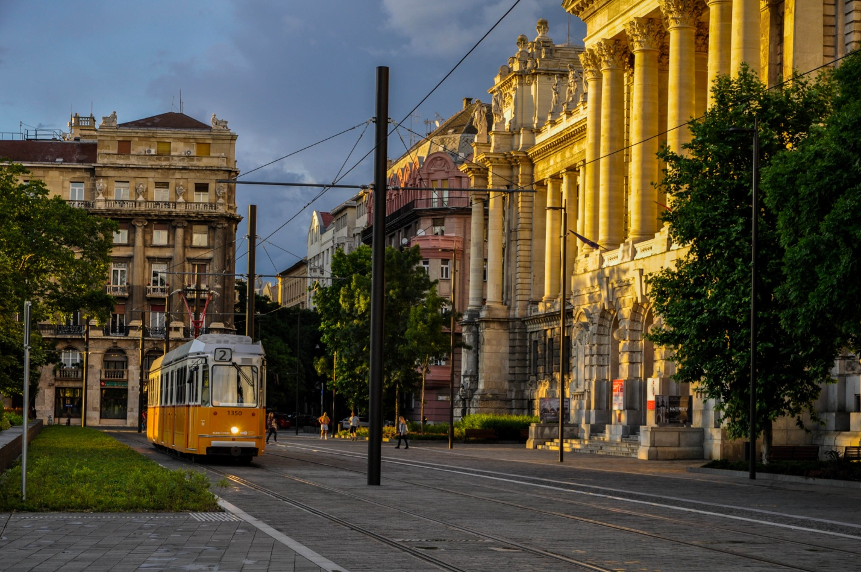Старый трамвай в Будапеште