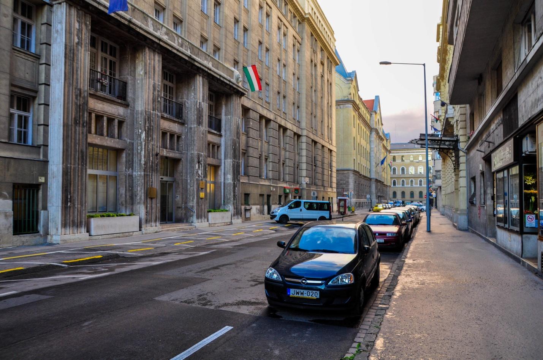 Безлюдная улица в Будапеште, Венгрия