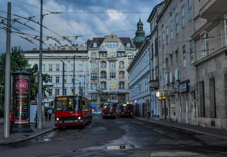 Икарусы-Троллейбусы в Будапеште, Венгрия