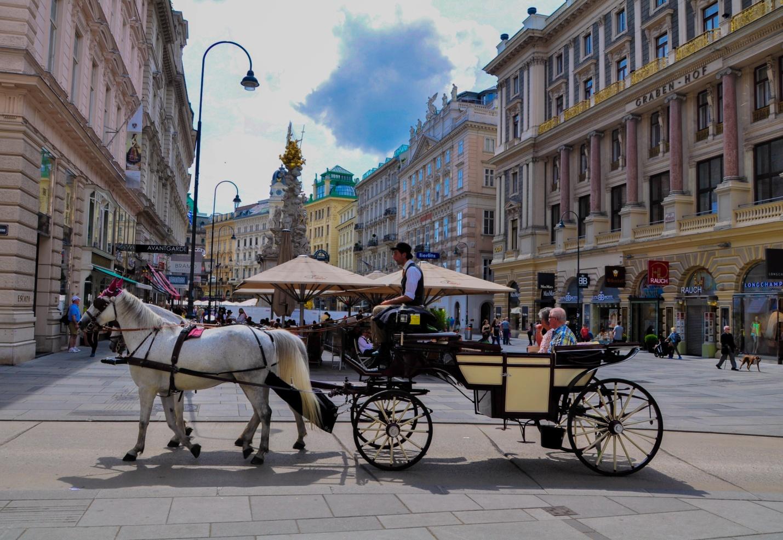 Конный экипаж в Вене, Австрия