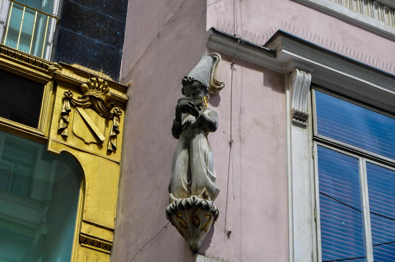 Статуя Кафе Julius Meinl в Вене, Австрия