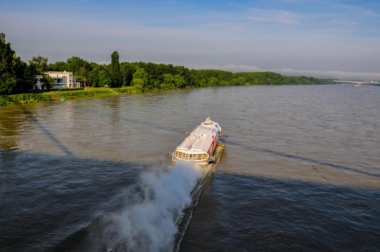 Ракета по Дунаю в Братиславе