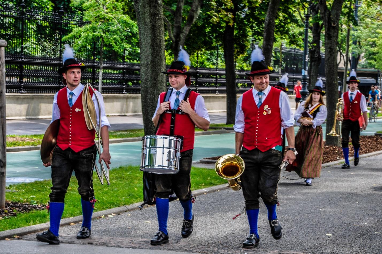Уличные музыканты в Вене, Австрия