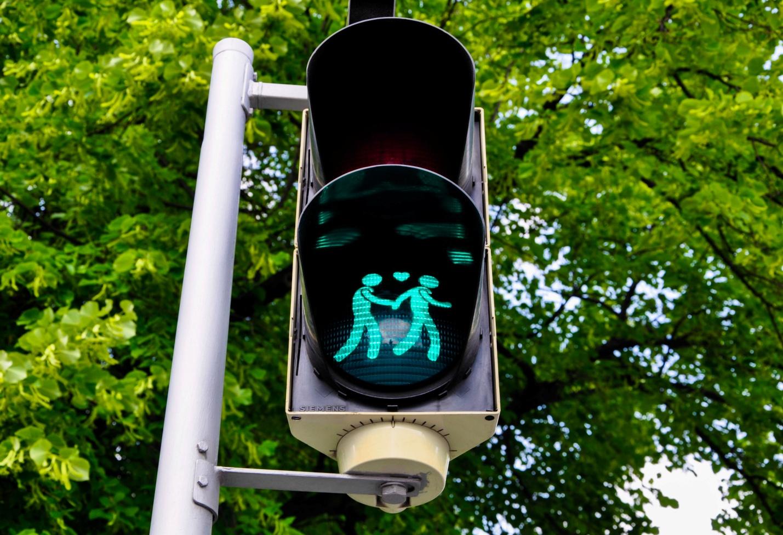 Светофор с Геями в Вене, Австрия
