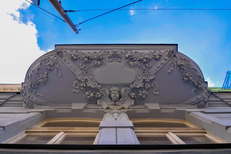 Балкон с лепниной в Братиславе