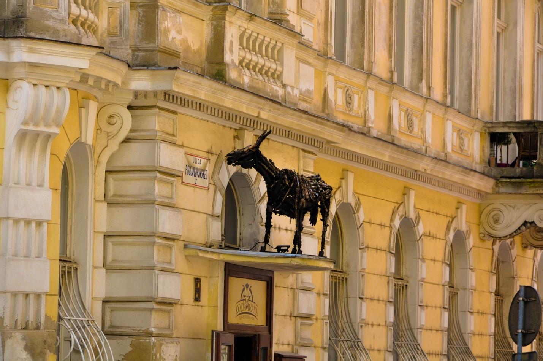Козлик из металлолома в Братиславе
