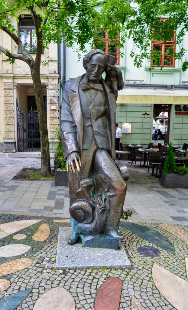 Памятник Хансу Кристиану Андерсену в Братиславе