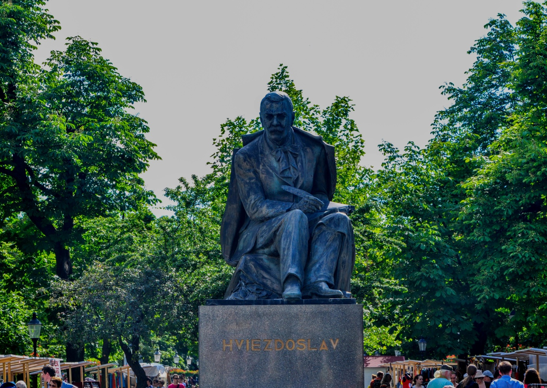 Памятник Паволу Гвездославу, словацкому поэту, писателю и драматургу, Братислава