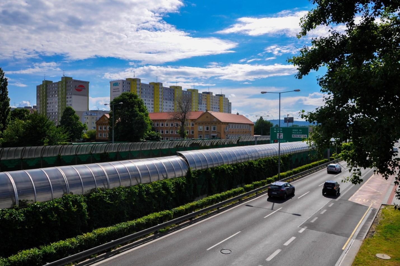 Трасса - дорога в Братиславе