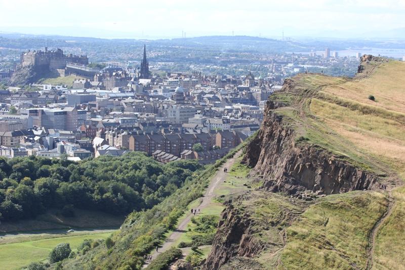 Панорама Эдинбурга, Шотландия, Великобритания