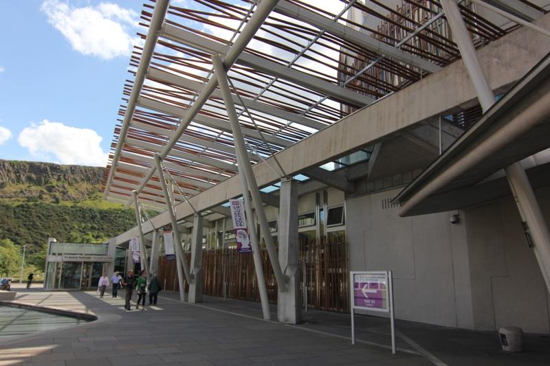 Вход в Шотландский парламент, Эдинбург