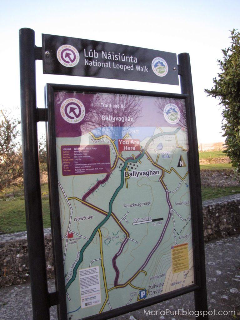Карта маршрутов и достопримечательностей в Ирландии
