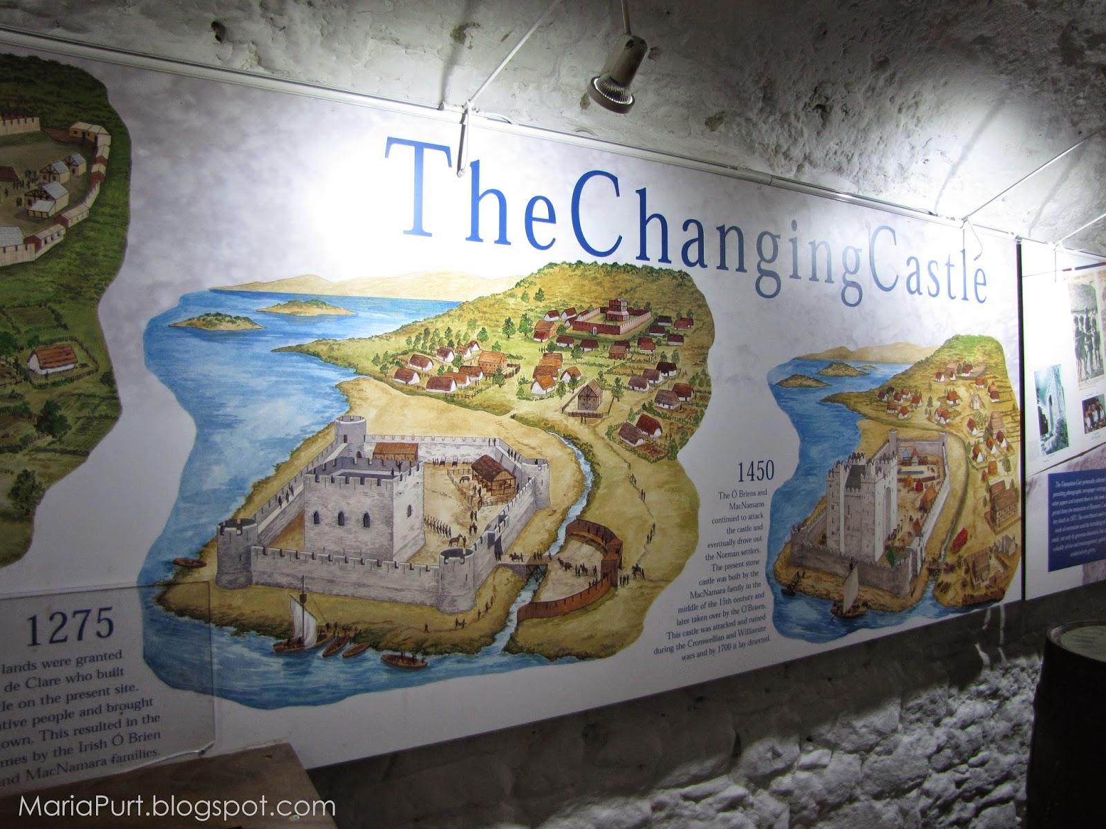 Старый план города Бунратти, Ирландия