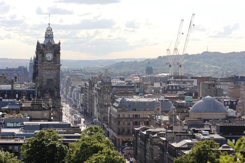 Эдинбург с высоты
