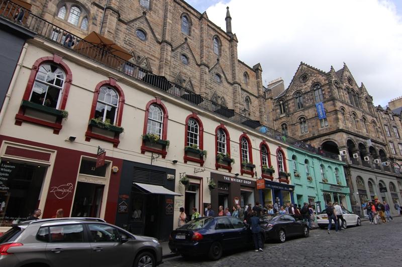 Людная улица Эдинбурга, Шотландия