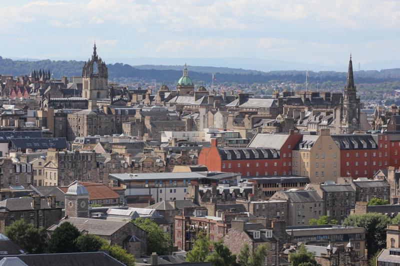 Панорамный вид на Эдинбург, Шотландия