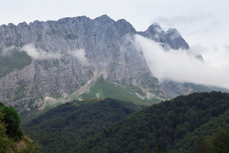 Вид на горы около Водопадистого, Краснодарский край, Кубань