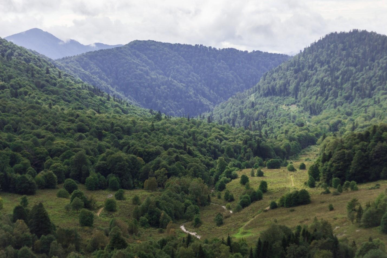 Вид на долину около Водопадистого, Краснодарский край