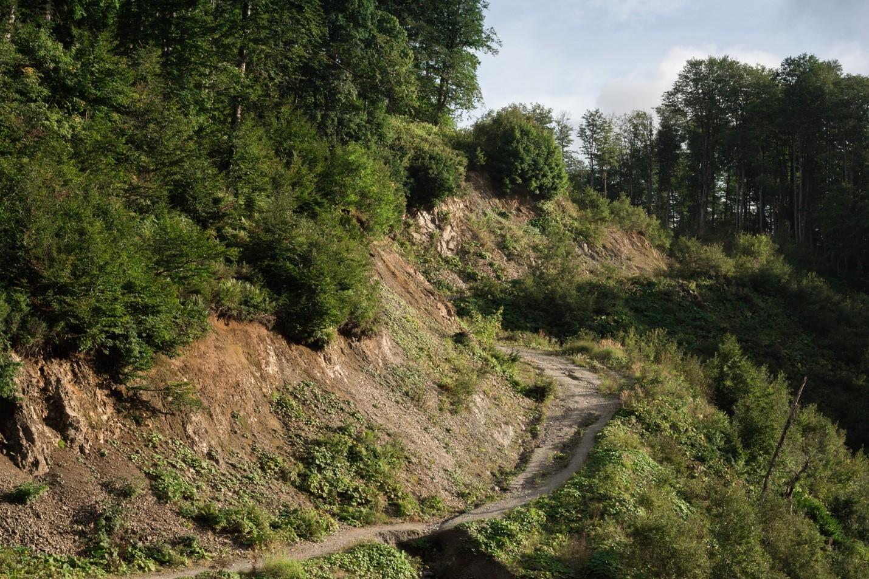 Горная тропа на Водопадистый, Кубань, Краснодарский край
